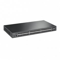 TP-Link T2600G-52TS (TL-SG3452) 48-Port Gigabit L2 Managed Switch with 4 SFP Slots